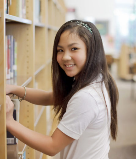 LVDS Student in Library