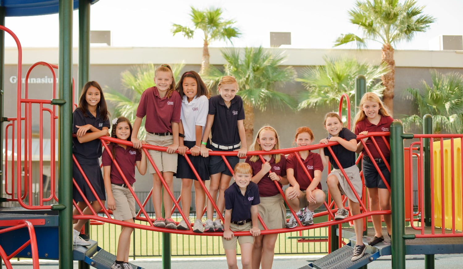 LVDS Students on Playground